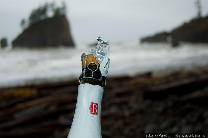 и выпить... добавив к океанской пене, пену шампанского.