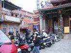 Мотоциклы во дворе храма