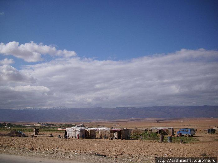 Нейтральная полоса между Ливаном и Сирией заселена палестинскими беженцами