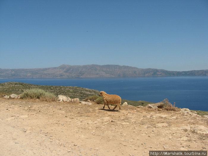 по дороге к бухте Балос