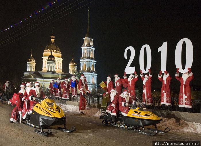 Деды Морозы примчались в Рыбинск