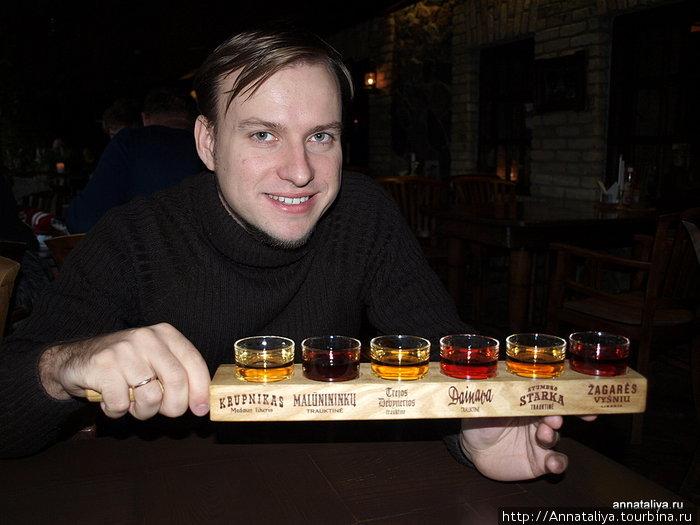 Дегустация литовских алкогольных напитков