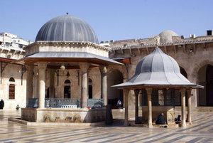 Фонтаны для омовений во дворе мечети Омейядов