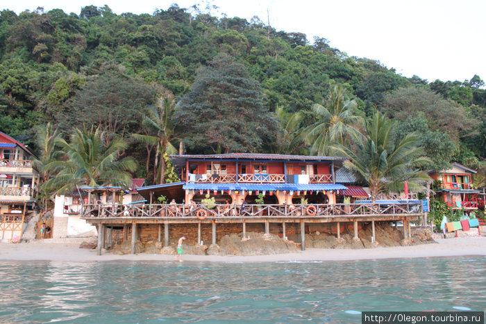 Наш уютненький отель, вид с моря