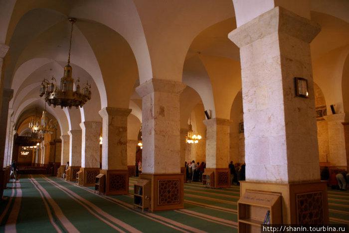 В молельном зале мечети Омейядов