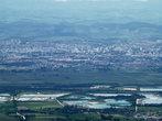 панорама города открывающаяся с гор