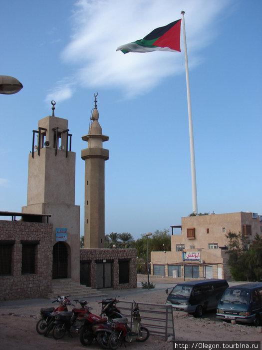 Акаба, флаг Иордании