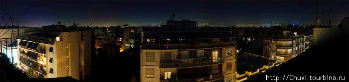 Ночная панорама с балкона номера 703.