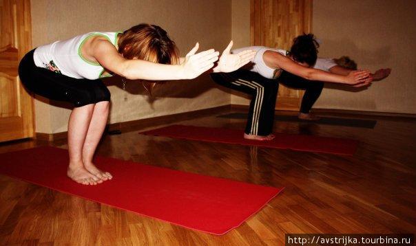 занятие в yoga-place