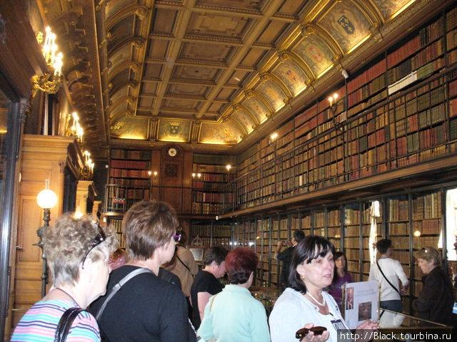 Библиотека с тысячами томов книг