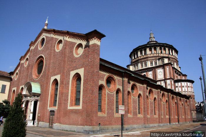церковь Санта-Мария-делле-Грацие в Милане