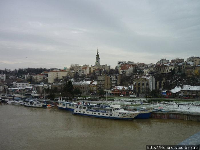 Вид на Белград с моста