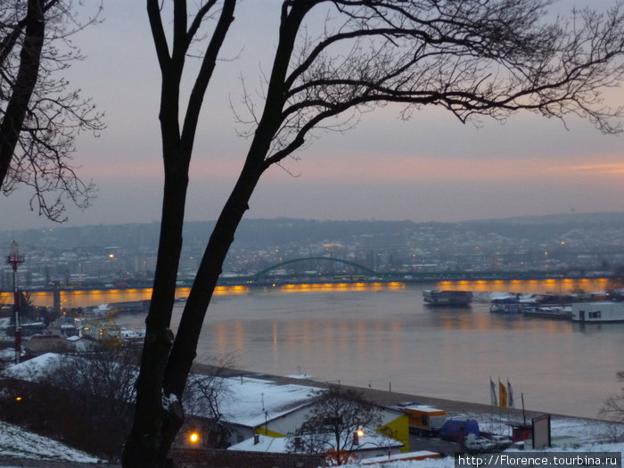 Вид на мост с Калемегдана