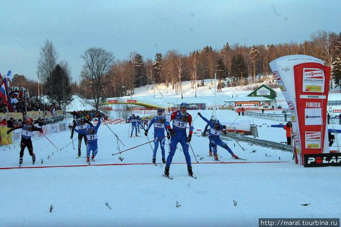 Финишируют российские лыжники