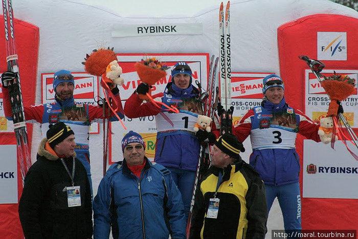 После завершения мужского спринта весь пьедестал заняли российские лыжники: Николай Морилов (1-е место), Алексей Петухов (2-е место), Никита Крюков (3-е место)