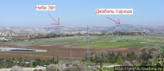 Вид с холма Титора, Модиин.