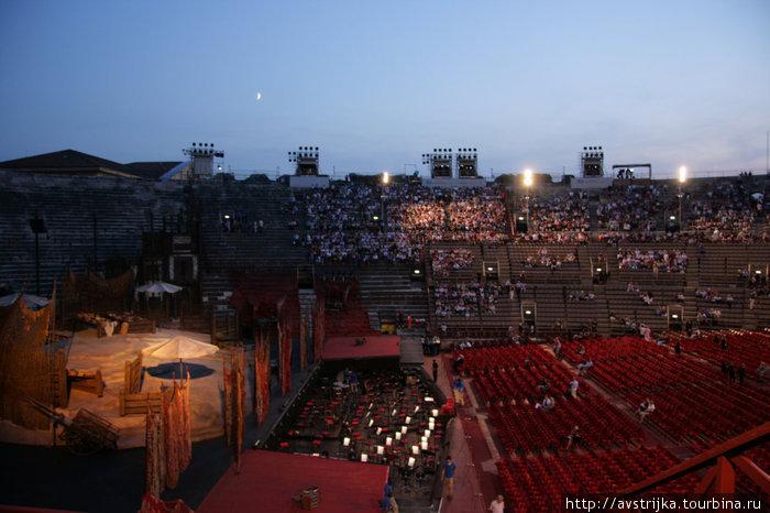 оперная сцена в Арене