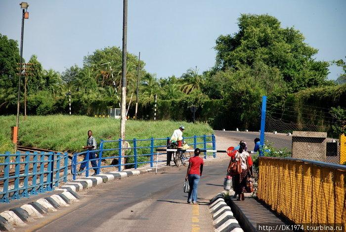 вход на мост со стороны Зимбабве