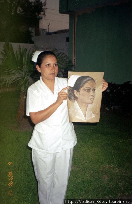 Портрет медсестры из госпиталя в Мазатлане.