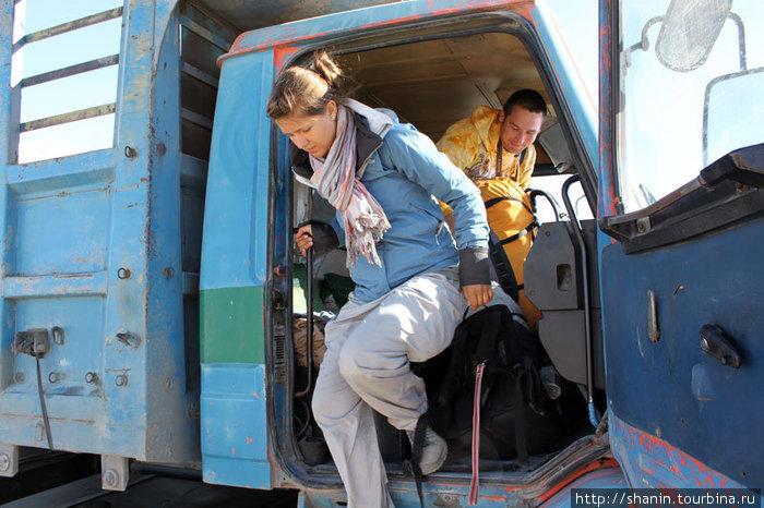 Автостопом на грузовике