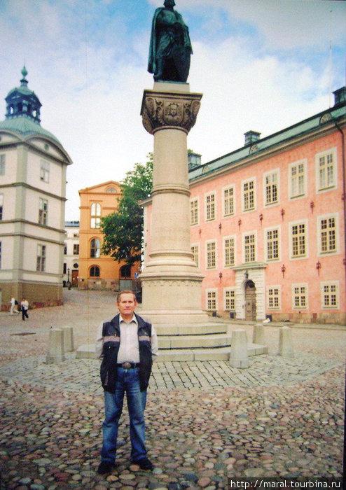 Стокгольм, август 2008. На Рыцарском острове (Riddarsholmen) на площади Биргера Ярла устновлен памятник основателю Стокгольма