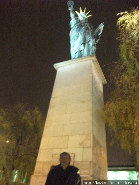 У статуи свободы. Хоть и не резко.