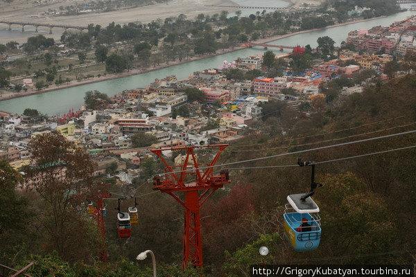 Вид на Харидвар с высоты холма Мансадеви