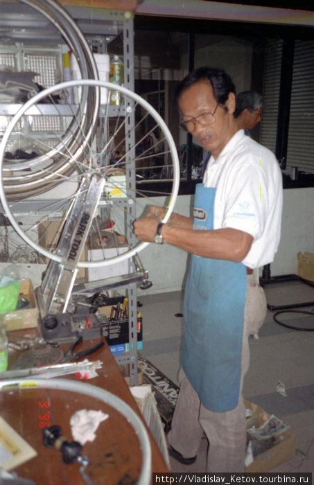 Ремонт моего велосипеда в местной мастерской