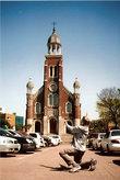 Церковь Тап Донг — один из первых католических храмов Кореи (к.XIX в.).