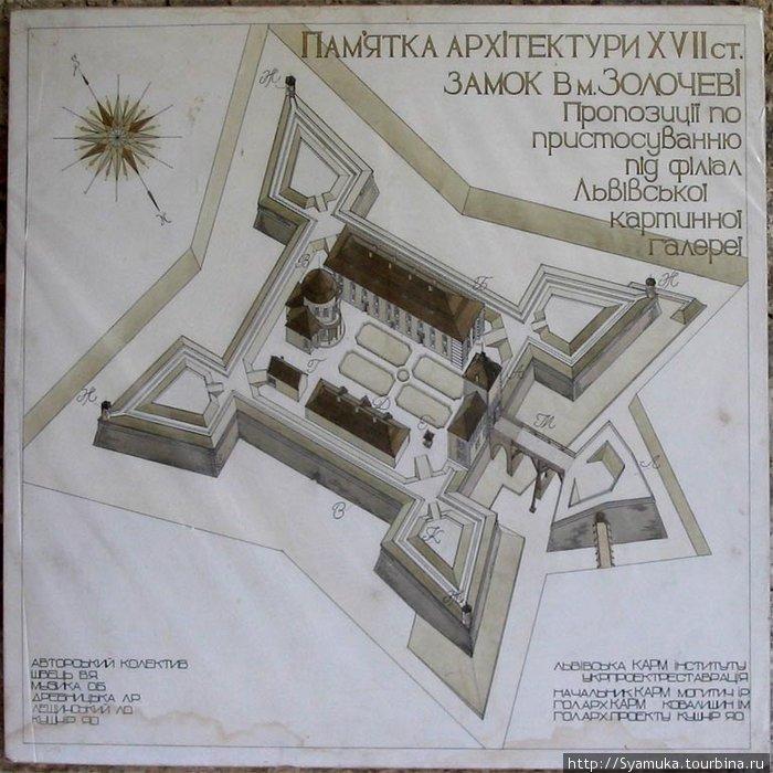 Особенность замка состояла в хорошо продуманной конструкции в виде прямоугольной цитадели, окруженной, покрытыми каменными плитами, земляными валами, по углам которых возвышались сторожевые башни.
