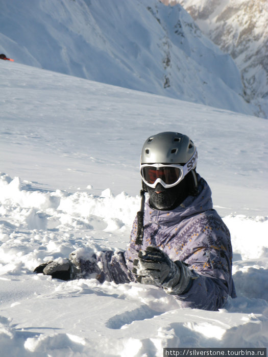 Практически стою в снегу