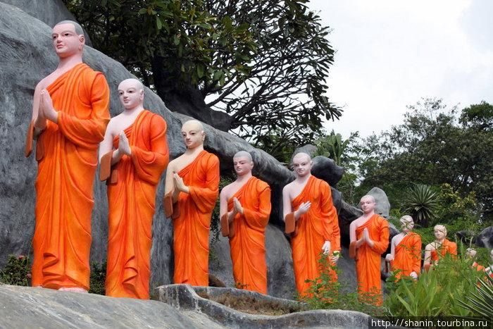 Монахи идут за подаянием