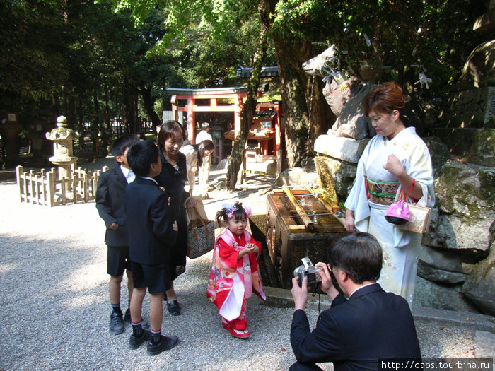 Ребёнка привели на Касуга-Тайся, Нара