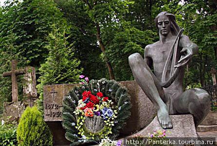 Орфей на могиле оперной певицы Соломии Крушельницкой