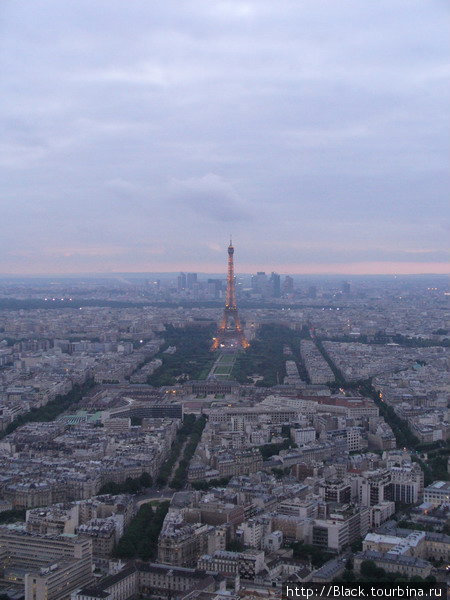Эйфелева башня с башни Монпарнас