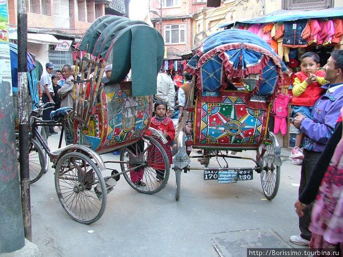 Рикши — самый волнующий вид транспорта (у них часто нет тормозов :-).