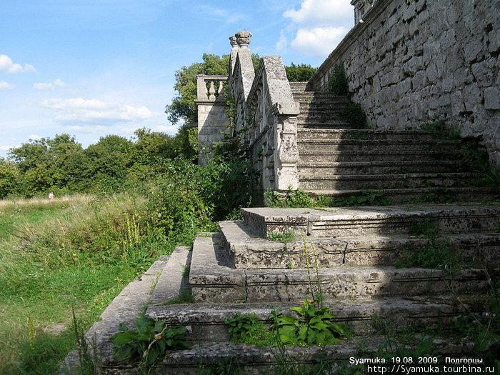 Дворцовая приусадебная лестница.