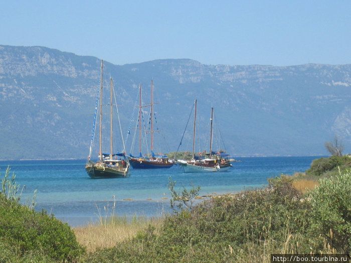 эгейское море. яхты в заливе Гёкова