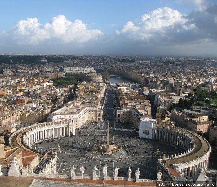 Вид на Рим с верхней смотровой площадки собора