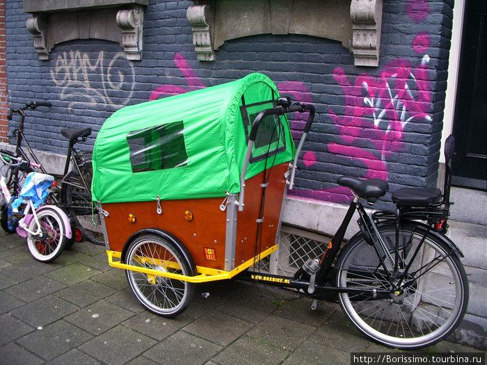 В таком вело-мобиле можно возить детей (или даже тёщу! :-)