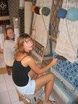 можно посидеть за ткацким станком и почуствовать себя берберской женщиной :)