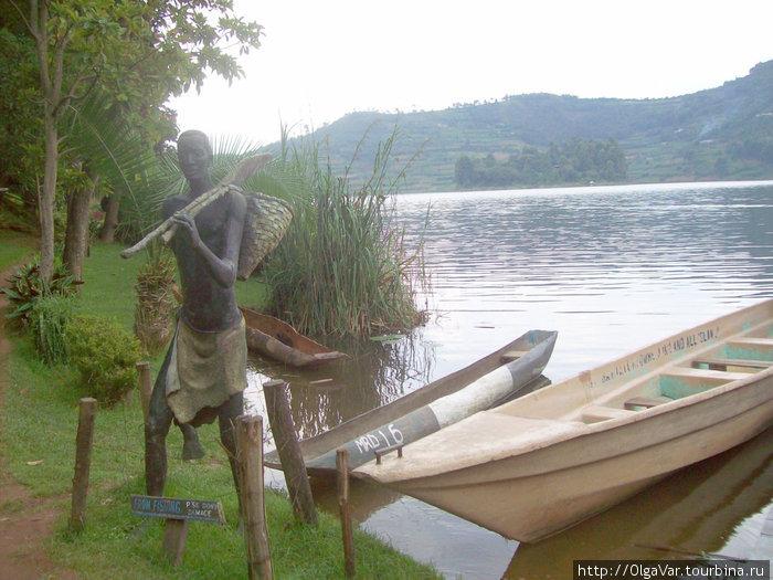 У причала- возвращение с рыбалки