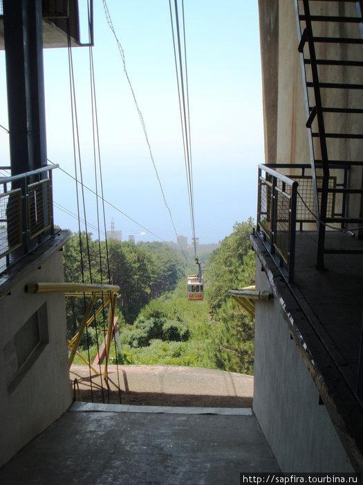 остановка на станции сосновый бор переход на   другую кабинку ,панорама с двух сторон.