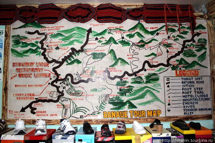 Карта окрестностей Банауэ
