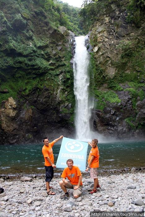 Водопад возле рисовых террас (с обратной стороны горы)