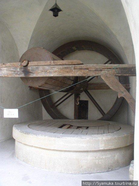 В 1511 г. в подземельях замка был вырублен уникальный колодец глубиной 42 м. и 3 м в диаметре, с изображением дьявола на стене.