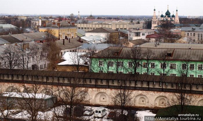 Ярославль. Вид со звонницы Спасо-Преображенского монастыря.