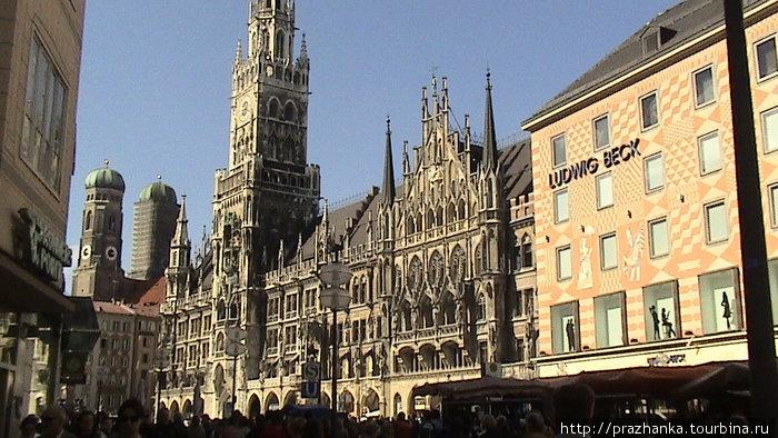 Мюнхен — Мариенплац- Новая Ратуша!