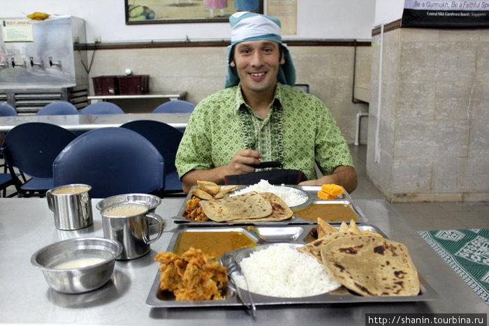 Завтрак в сикхском храме