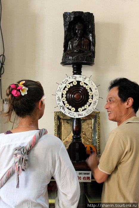 Колесо фортуны в буддистском храме